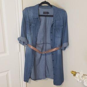 🔴 Jean Shirt Dress